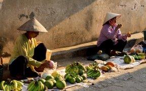 vendeuse de fruit dans la rue hanoi