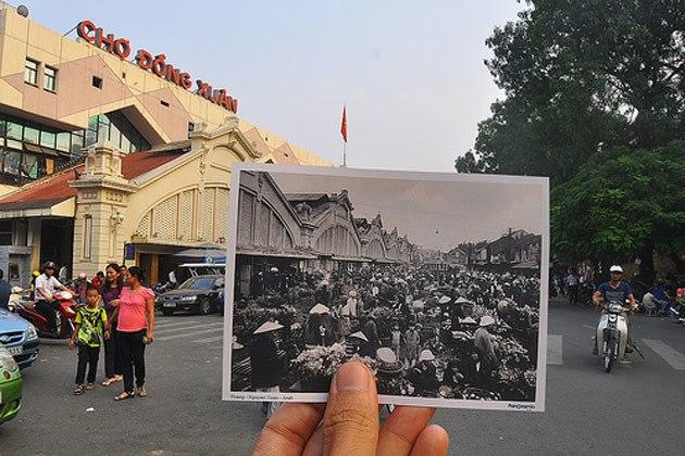 marche dong xuan a hanoi hier et aujourdhui