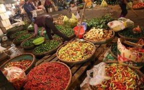vendeur de piment au marche de nuit long bien a hanoi