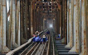 operation d'entretien du pont doumer a hanoi
