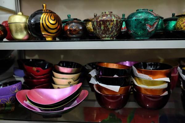 Divers produits d'artisanat laques a hanoi
