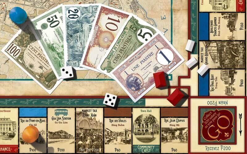 plateau de Monopoly version coloniale - Amica Travel